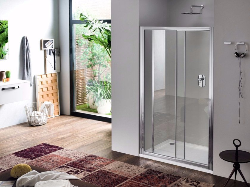 Niche glass shower cabin with sliding door RAPID - 2 by INDA®