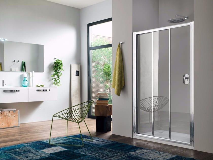 Niche glass shower cabin with sliding door RAPID - 3 by INDA®