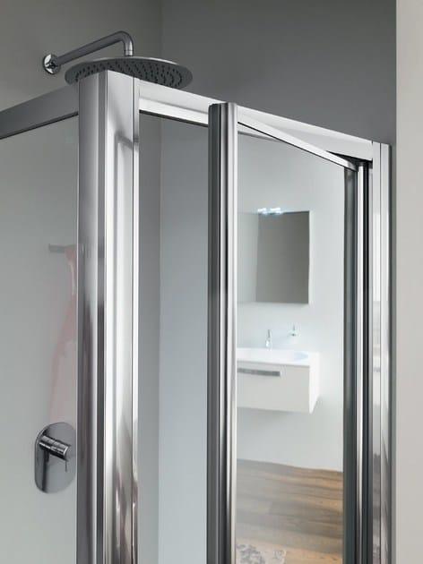 Box doccia angolare in vetro con porta a battente RAPID - 4 ...