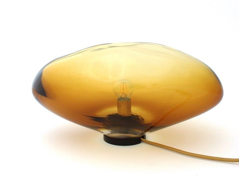 LED handmade blown glass table lamp RASALAS by ELOA
