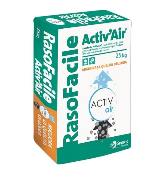 Gypsum plaster RASOFACILE Activ'Air by Saint-Gobain Gyproc