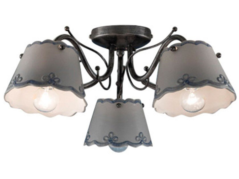 Ceramic ceiling lamp with fixed arm RAVENNA | Ceiling lamp by FERROLUCE