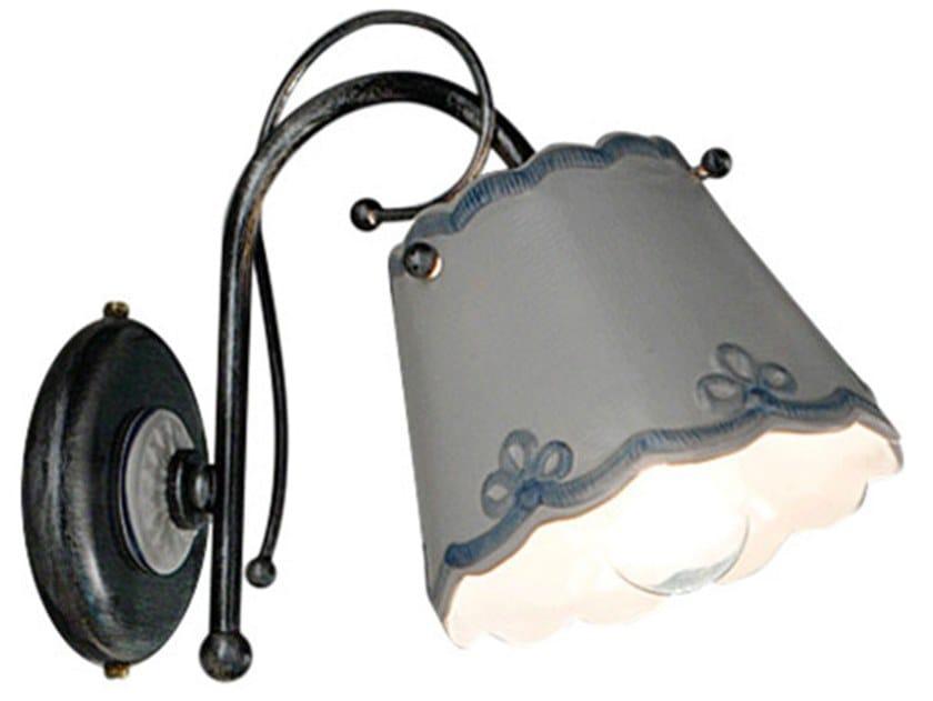 Ceramic wall light with fixed arm RAVENNA | Wall light by FERROLUCE