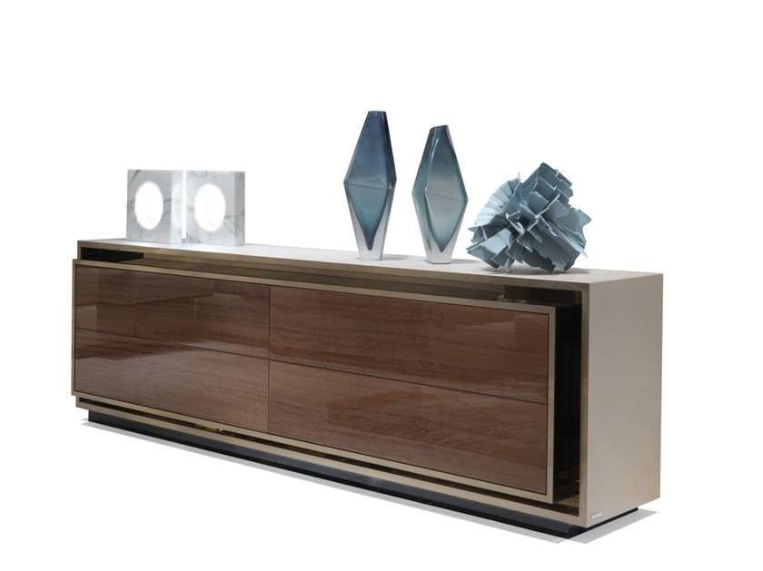 Lacquered wooden sideboard with drawers RAWDON by Visionnaire