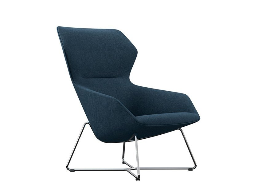 Swivel fabric armchair with armrests RAY LOUNGE | Armchair by Brunner
