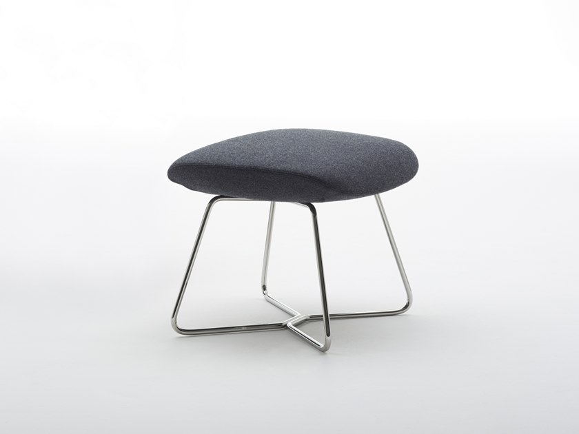 Fabric footstool RAY LOUNGE | Footstool by Brunner
