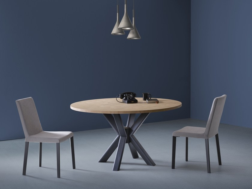 Round wooden table RAY | Round table by Natisa