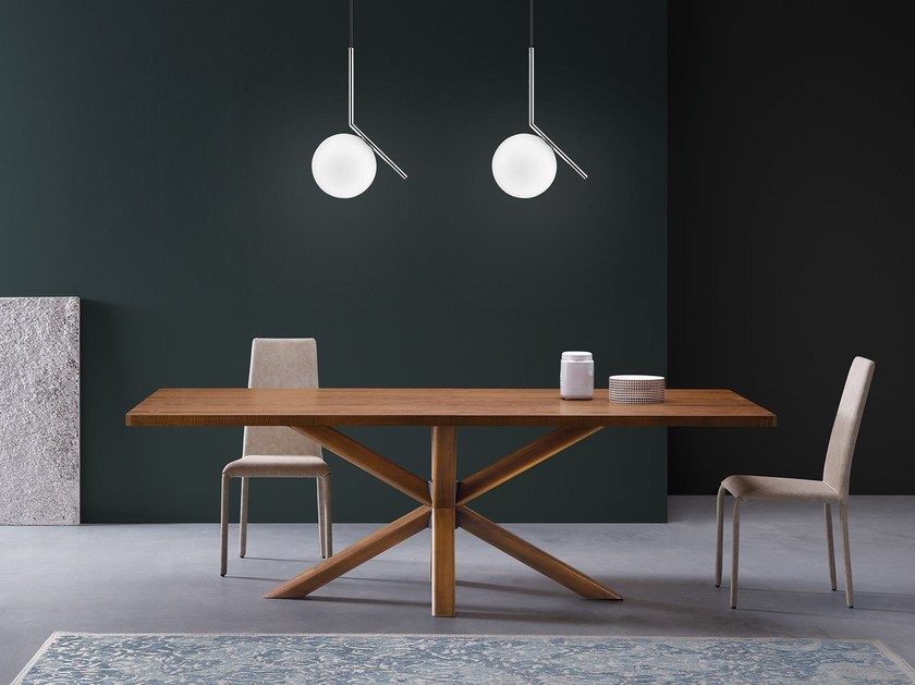 Rectangular wooden table RAY | Wooden table by Natisa