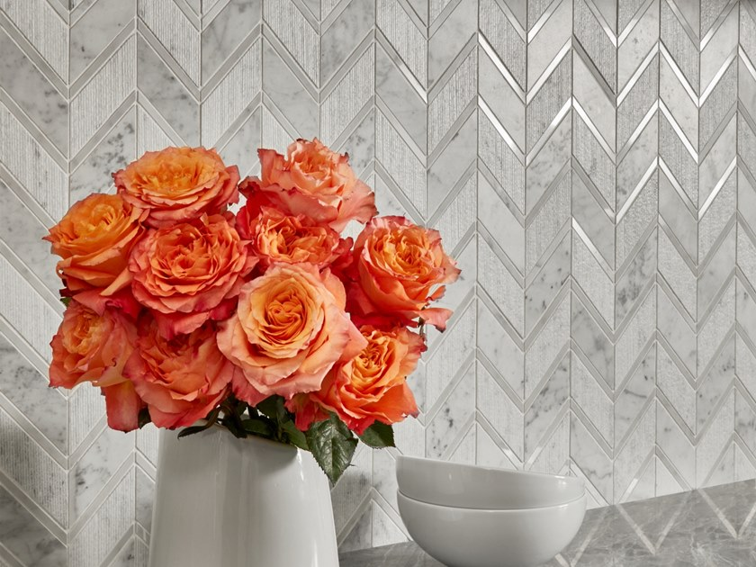 Marble mosaic RAY by AKDO