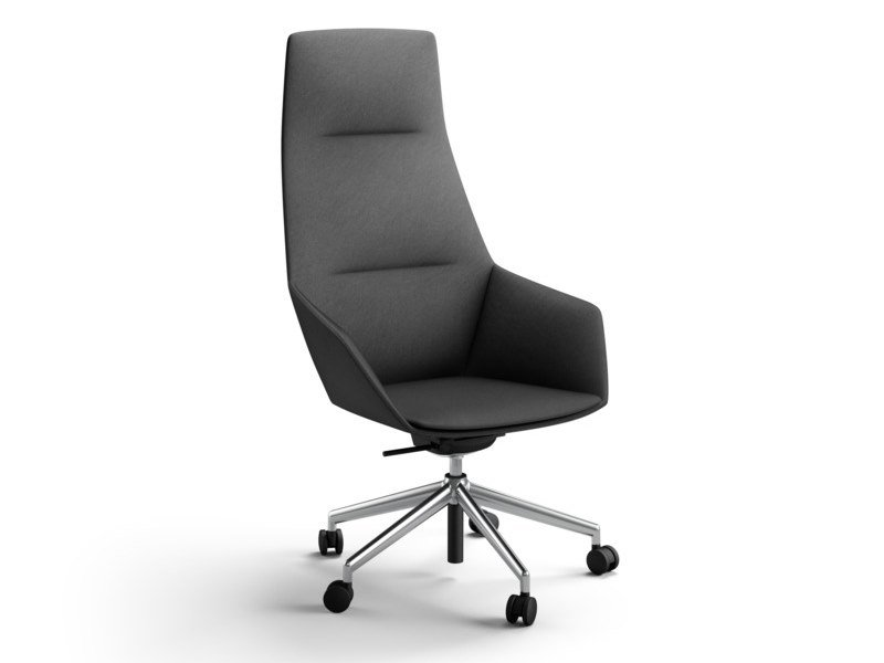 High-back fabric executive chair with armrests with casters RAY SOFT   Executive chair by Brunner