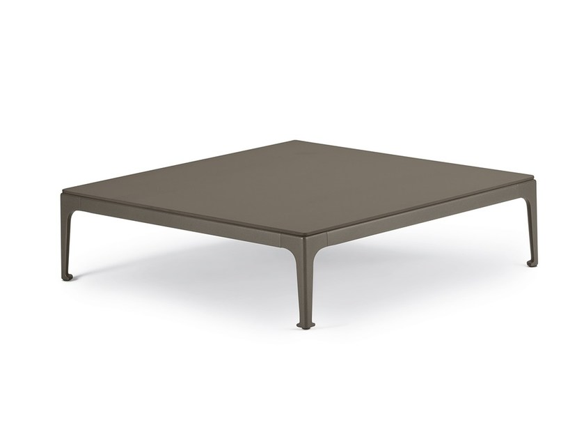 Square garden side table RAYN | Square coffee table by DEDON