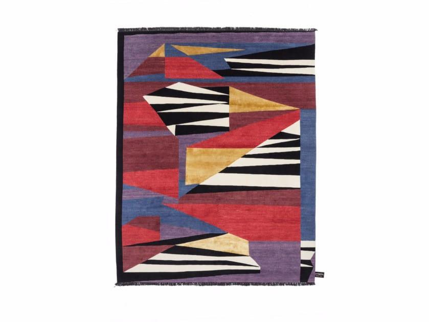 Handmade custom rug RAZOR by cc-tapis