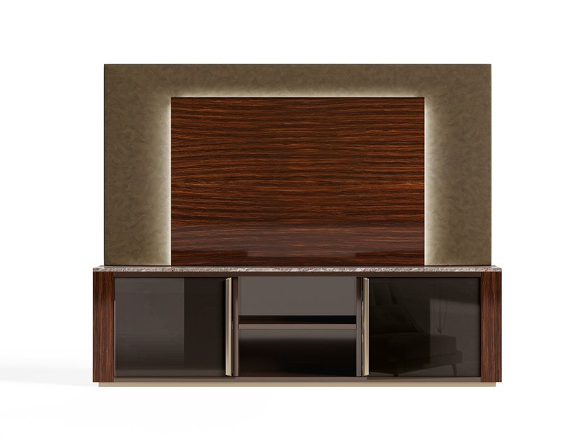 Wooden TV cabinet RICHMOND | Wooden TV cabinet by Barnini Oseo