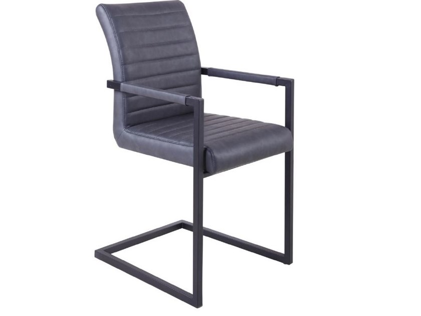 Cantilever upholstered chair with armrests RDC-954 | Chair by Reflection