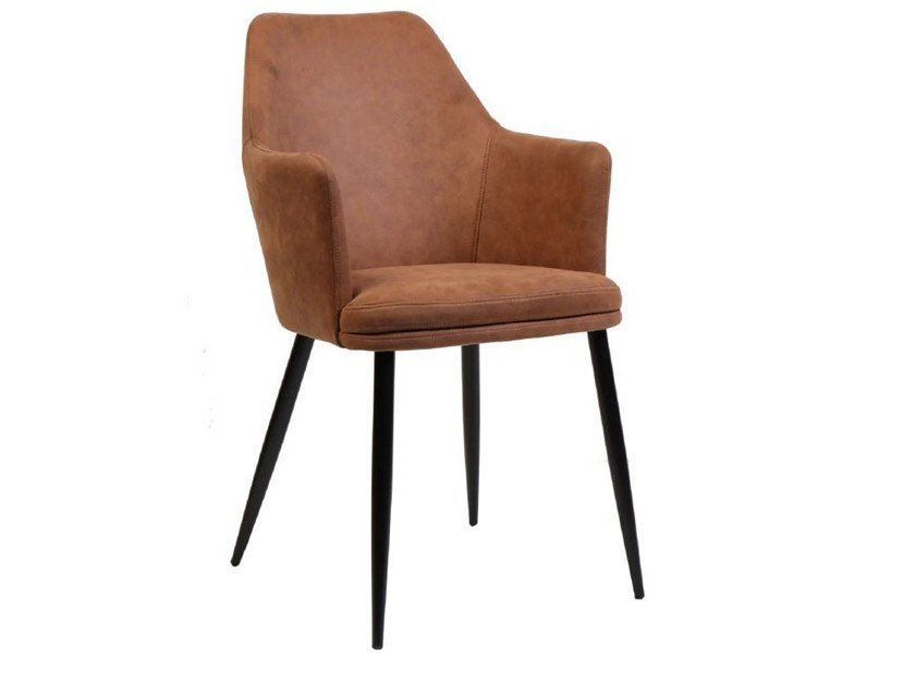 Upholstered fabric chair with armrests RDC943 | Chair by Reflection