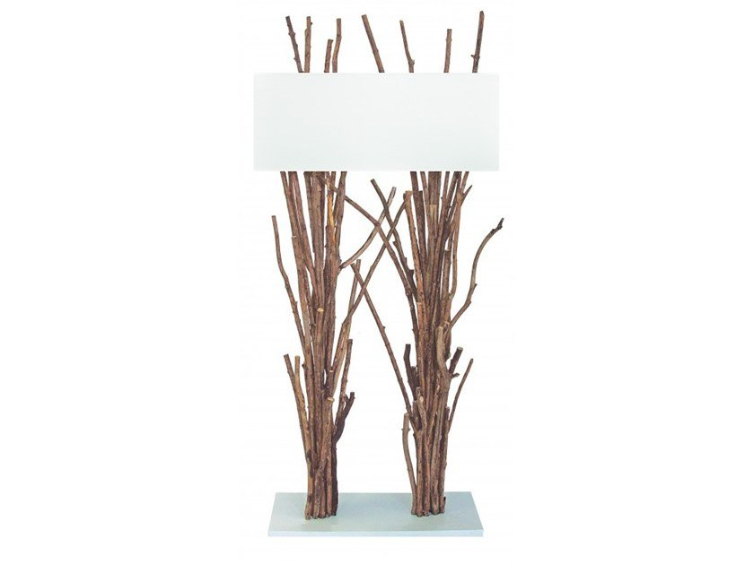 Wooden floor lamp RE by Flam & Luce