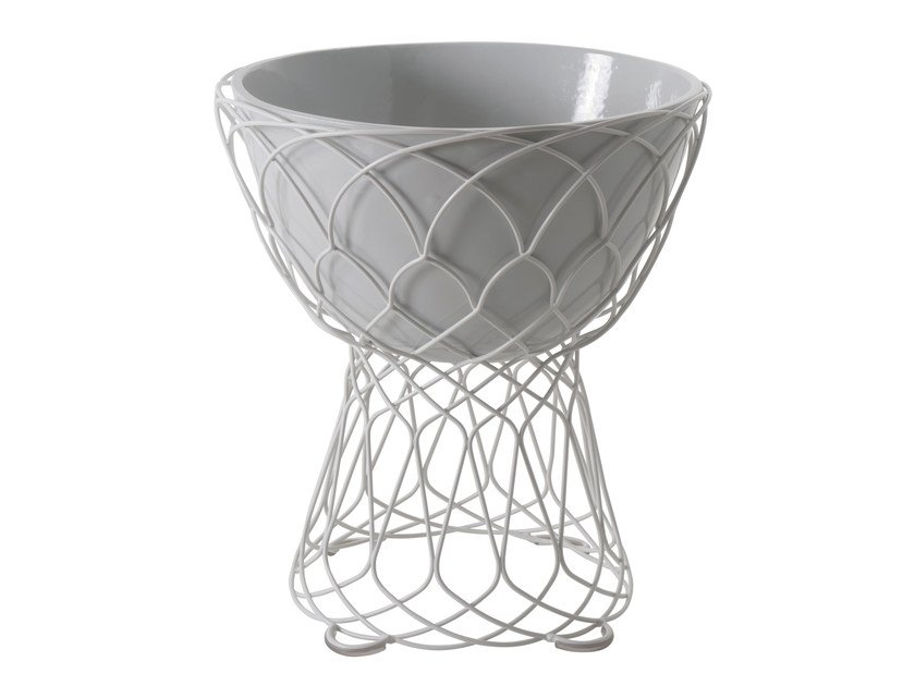 Vaso da giardino basso in acciaio RE-TROUVÉ | Vaso da giardino basso by emu