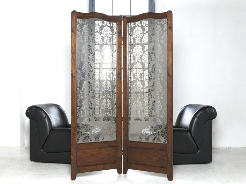 Stainless steel room divider RE-VISTO by Caino Design