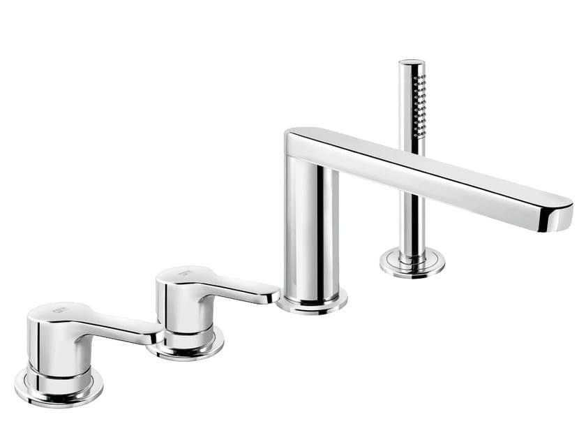4 hole single handle bathtub set with hand shower READY 43 - 4331404 by Fir Italia