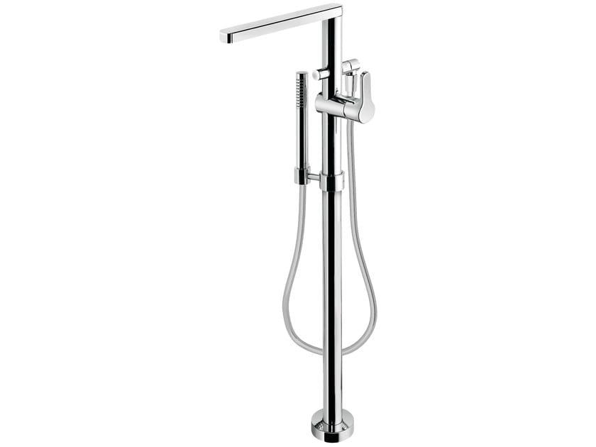 Miscelatore per vasca da terra monocomando con doccetta READY 43 - 4333008 by Fir Italia