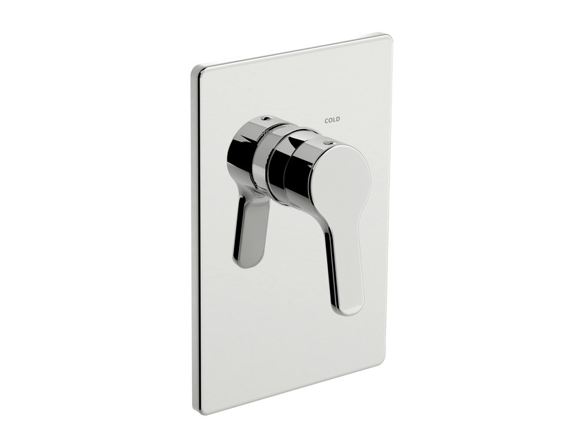 Single handle shower mixer with plate READY 43 - 4350158 by Fir Italia