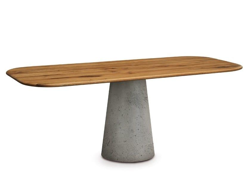 Tavolo rettangolare in legno massello REAL by Oliver B.