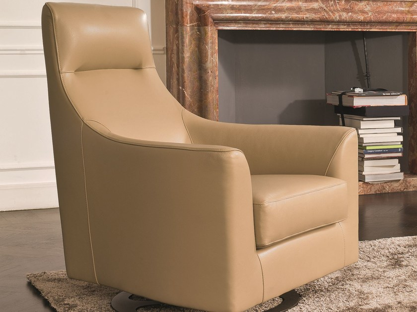 Swivel Armchair With Armrests REBECCA | Swivel Armchair By CTS SALOTTI
