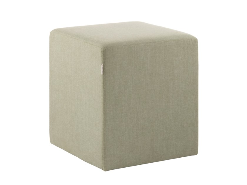 Upholstered square fabric pouf REBECCA PFQ01 by New Life