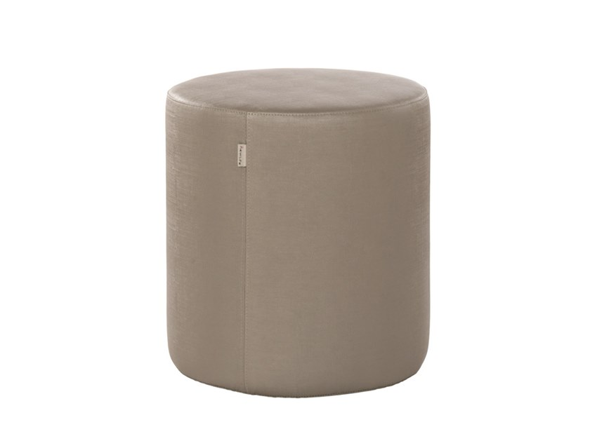 Upholstered round fabric pouf REBECCA PFT01 by New Life
