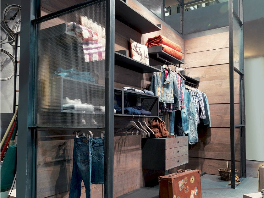 Sectional wardrobe REBEL SYSTEM | Sectional wardrobe by Fimar