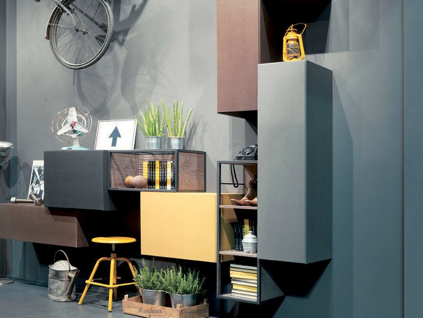 Modular Storage Wall REBEL SYSTEM | Storage Wall By Fimar