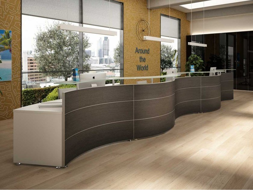 Modular wooden Office reception desk OFFICE by Bralco