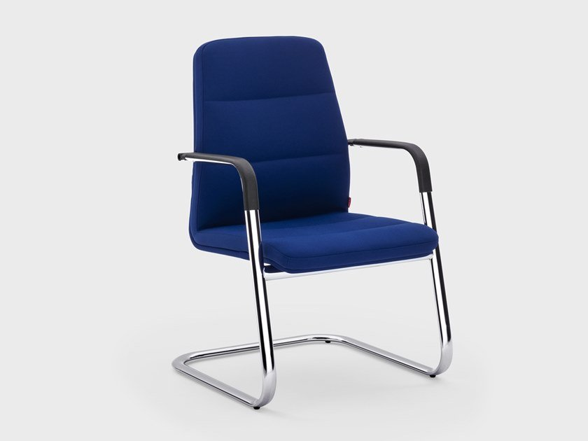 Cantilever fabric reception chair STAR | Reception chair by Viganò