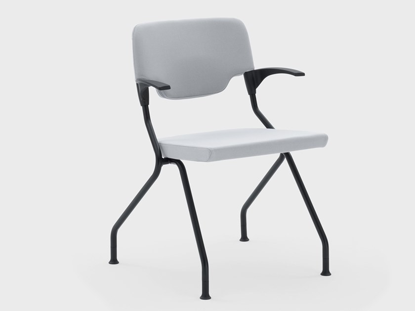 Folding fabric chair with armrests MADAM COLLETTIVITÀ | Reception chair by Viganò