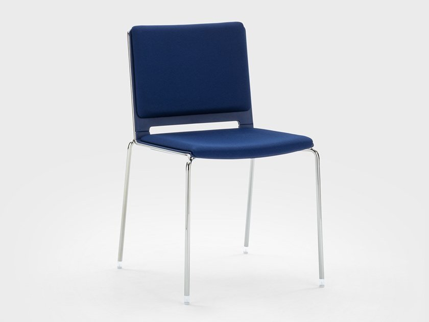 Stackable fabric reception chair DAISY   Reception chair by Viganò