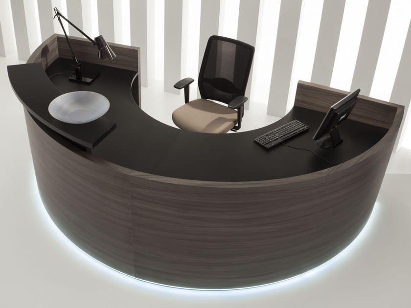 Modular Reception desk with Built-In Lights FURONTO   Reception desk by BALMA