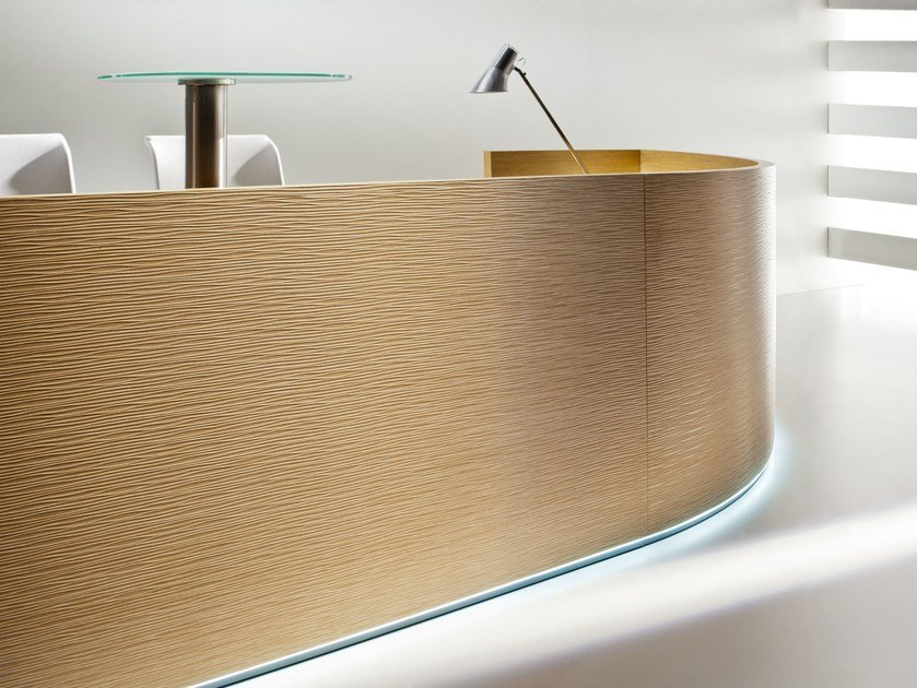 Modular Reception desk with Built-In Lights FURONTO | Office reception desk by BALMA
