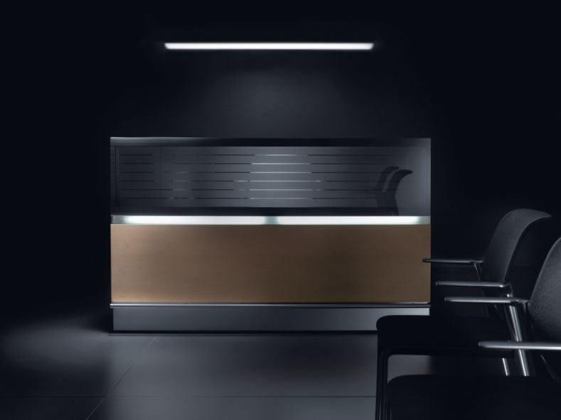 Banco per reception modulare con illuminazione HORIZON | Banco per reception by BALMA