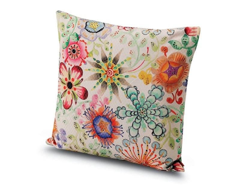 Cuscino in tessuto stampato su damina lurex a fiori RECIFE | Cuscino by MissoniHome