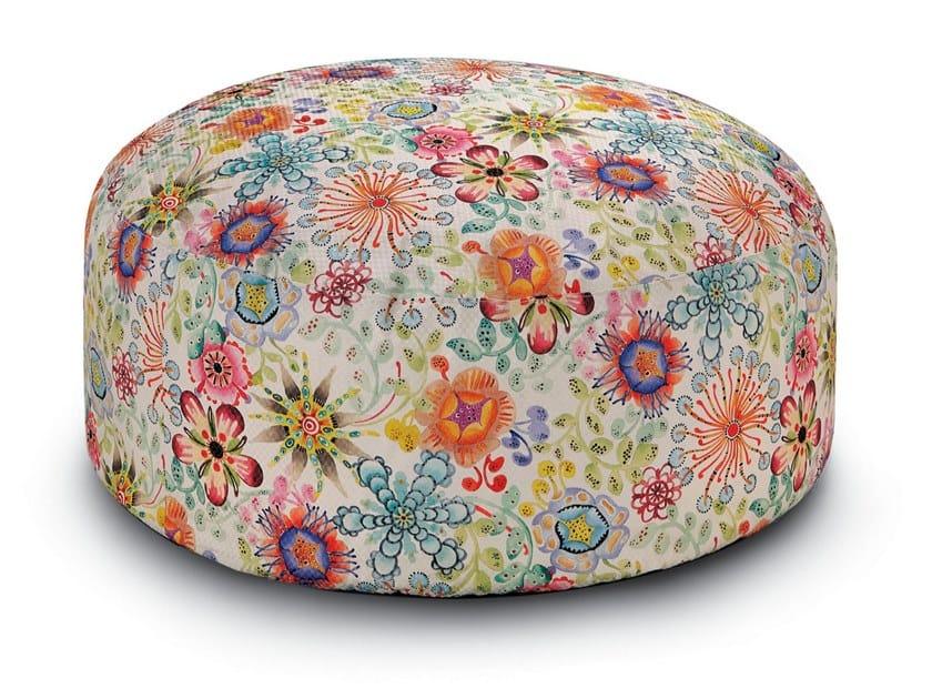Pouf in tessuto stampato su damina lurex a fiori RECIFE   Pouf by MissoniHome