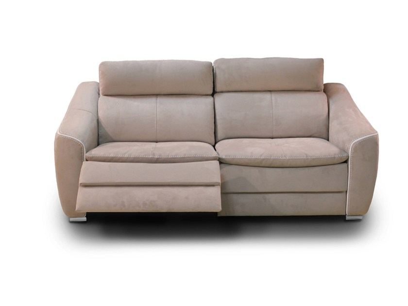 Recliner 2 seater Nabuk sofa DAKOTA | Recliner sofa by Nieri