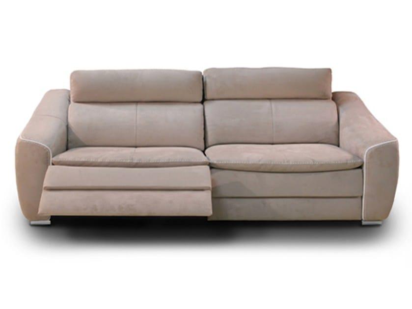 Recliner 3 seater Nabuk sofa DAKOTA | Recliner sofa by Nieri