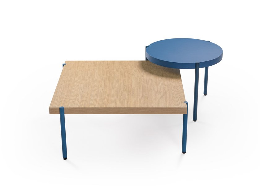 Square wooden coffee table PALLADIO | Square coffee table by Artifort