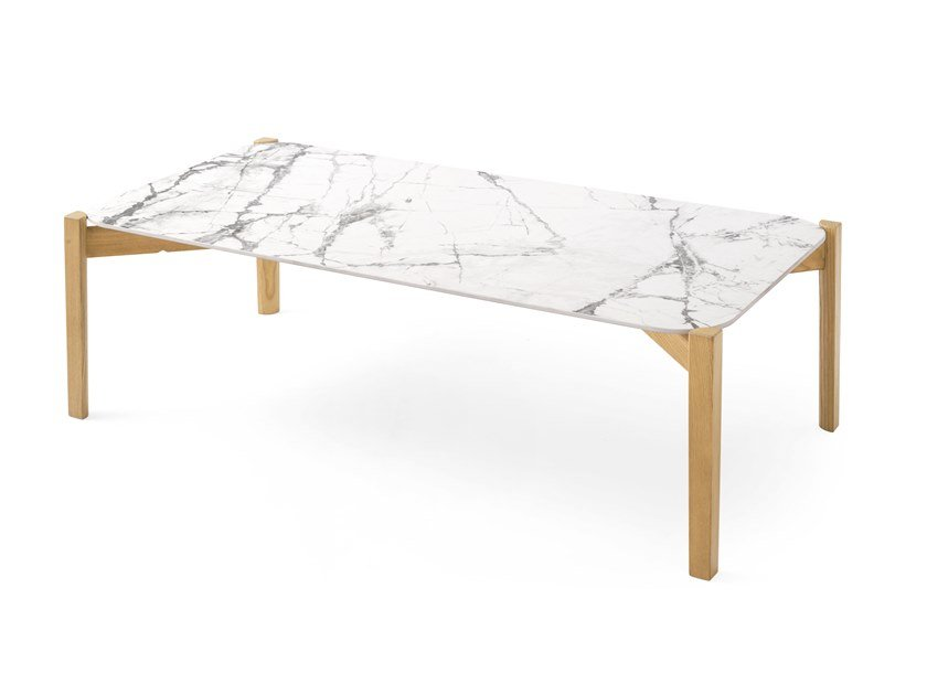 Rectangular ceramic coffee table PALETTE | Rectangular coffee table by Calligaris