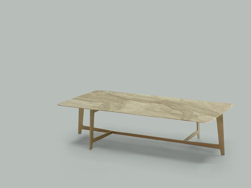Rectangular marble coffee table for living room B SERIES | Rectangular coffee table by Borzalino