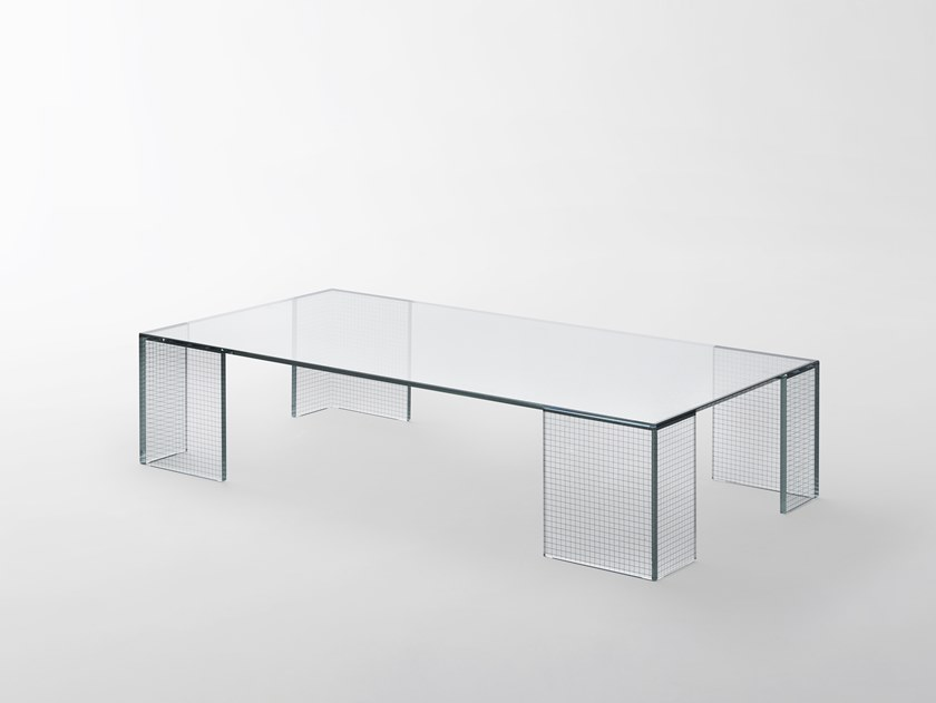 Glas Italia Design.Grid Rectangular Coffee Table Grid Collection By Glas Italia