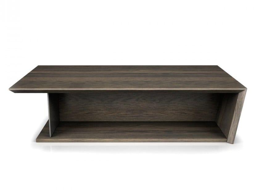 Rectangular oak coffee table for living room AGORÀ | Rectangular coffee table by Huppé