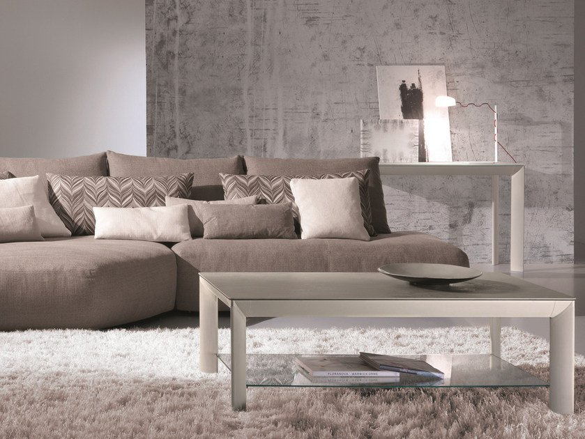 Rectangular tempered glass coffee table MOON | Rectangular coffee table by IDEAS Group