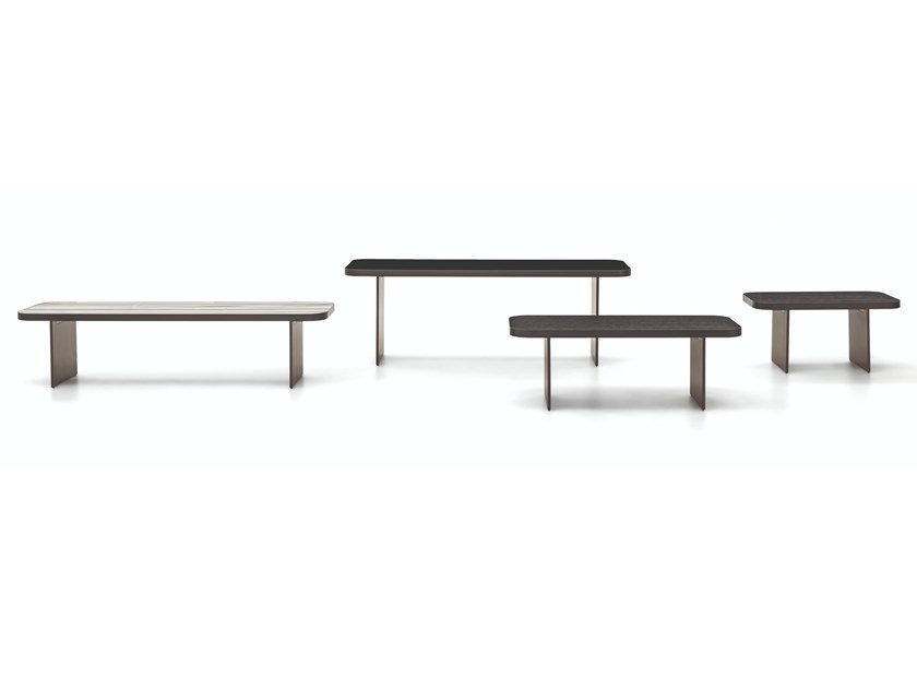 Wooden console table / coffee table CLIVE | Rectangular coffee table by Minotti