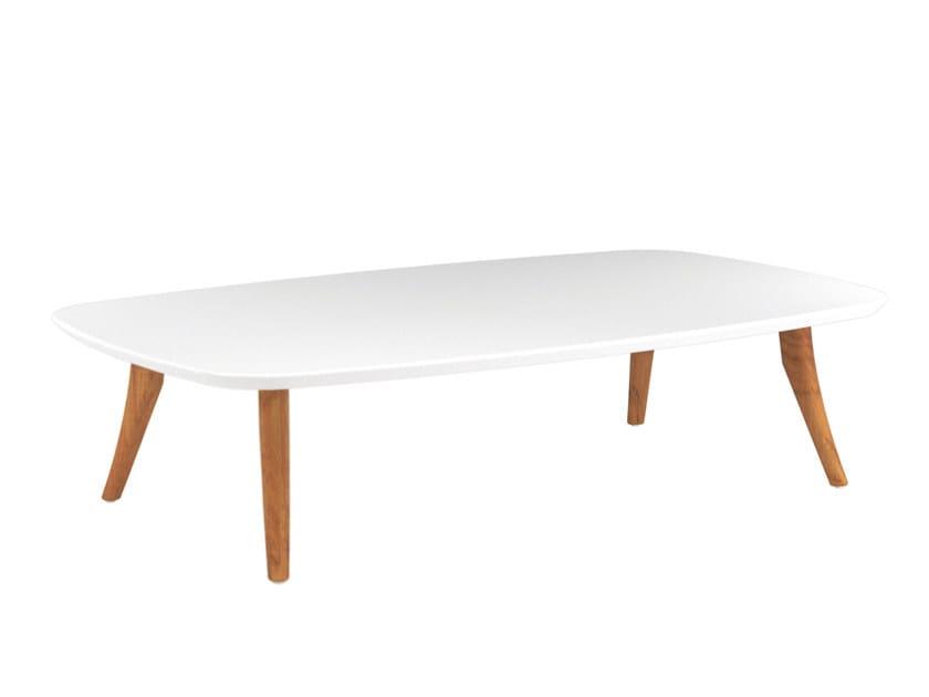 Low rectangular ceramic garden side table ZIDIZ   Rectangular coffee table by ROYAL BOTANIA